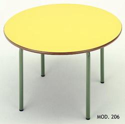 MESA CIRCULAR INFANTIL MADERA - METAL 90 cm
