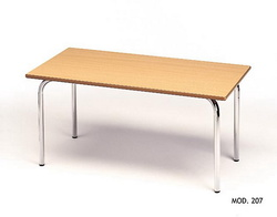 MESA RECTANGULAR INFANTIL MADERA - METAL 110x55 cm