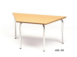 MESA TRAPECIO INFANTIL MADERA - METAL 110x55 cm