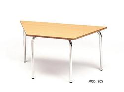 MESA TRAPECIO INFANTIL MADERA - METAL 120x60 cm