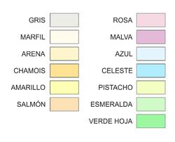 PAPEL DE COLORES PÁLIDOS A4 160 GR